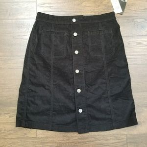Style & Co Corduroy Button Mid Rise Skirt.